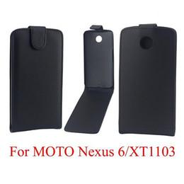 nexus bolsas Rebajas Bolsas para teléfono Funda para Motorola Google Nexus 6 funda para teléfono Funda de cuero para coqueta PU Flip vertical arriba-abajo Funda para piel abierta