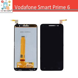 Wholesale Alcatel Parts - Wholesale- For Alcatel Vodafone Smart Prime 6 LTE VF-895N VF895 Touch Screen Digitizer with LCD Display Panel Replacement Parts Black