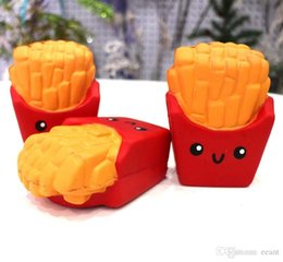 Wholesale Wholesale Fries - New Slow Rising Squishies High Quality Kawaii Cute Jumbo French Fries Soft Scented Bread Cake Squishy Stretch Kid Toy Free DHL