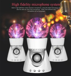 2019 usb klingt karte Bluetooth Wireless Lautsprecher Magie Plasma Ball Licht Flash Disco Lampe Lautsprecher Sound Box Tf-karte FM Radio USB Disk rabatt usb klingt karte