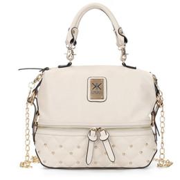 bolsas de kardashian Rebajas Kim Kardashian Kollection bolso de hombro diseñador de la marca bolsos bolsos mujeres remache Bucket moda Lingge paquete de cadena de remache bolsas