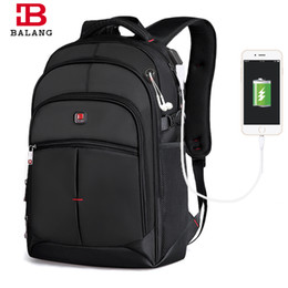 Wholesale Boys Trendy School Bag - BALANG Business Laptop Men Backpack Notebook Unisex Trendy Backpack Fashion School Bags for Teenagers Boys Girls Travel Bags