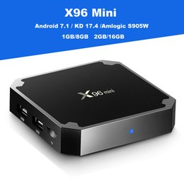 Wholesale Facebook Video Youtube - Amlogic S905W Android 7.1 TV Box X96 Mini Quad Core 1GB+8GB 2GB+16GB 4K H.265 1080P Video Streaming Android TV Boxes
