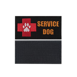 Wholesale Fabric Armbands - Medical Red Cross Embroidery Patch Service Dog Embroidered Patches Tactical Armband Fabric Sticker Sewing Applique