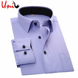 Wholesale Men Slim Work Shirts - Wholesale- 2017 Spring New Men's Formal Business Shirts Slim Fit Long Sleeve Overalls Vocational Shirt Men Dress Shirts Work Wear YN1005