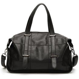 Wholesale Handbag City - Womens Classic Black Motorcycle Handbags High Quality Latest Fashion Large Practical Casual Shoulder Crossbody PU Leather Purse City Bags