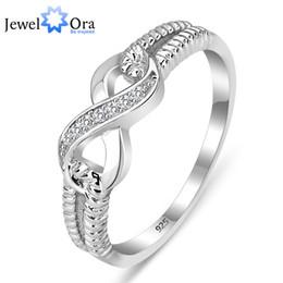 2019 ouro chinês barato Genuine 925 Sterling Silver Jewelry Designer Marca Anéis Para As Mulheres Do Casamento Senhora Infinito Anel Tamanho (RI101804) 17401