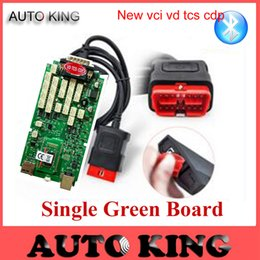 Wholesale Obd2 For Sale - Wholesale- Big Sale+DHL Free ship! for new vci vd tcs CDP PRO With bluetooth single green board for cars and trucks obd obd2 scan tool