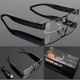 Wholesale Dvr Camera Glasses V13 - V13 HD 1080P Spy Glasses Camera Hidden Eyewear Cam DVR Video Recorder Mini DV Sunglasses camera Camcorder