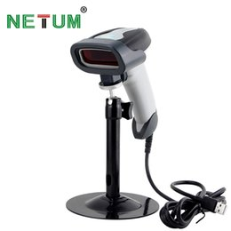 Wholesale Barcode Cable - Wholesale- Handheld Automatic Laser Barcode Scanner USB Cable Inventory with Stand -NT-2016