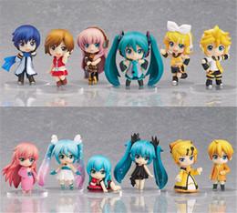 Wholesale Vocaloid Rin Figure - Vocaloid HATSUNE MIKU Family Drawings Rin Len Ruka Kaito Meiko Anime Figure Toys 12 pcs   set.