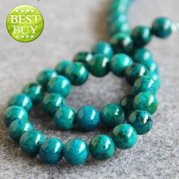 Wholesale Azurite Chrysocolla Beads - New Necklace&Bracelet Accessories 10mm Natural Multicolor Azurite Chrysocolla beads jade Jasper DIY beads 15inch Jewelry making