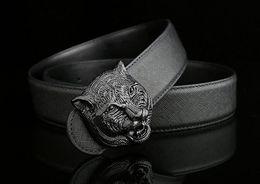 Wholesale Design Belts Mens - Belt brand designer mens belt senior tiger head copper buckle belts new design cowhide belts for men and women waist belts
