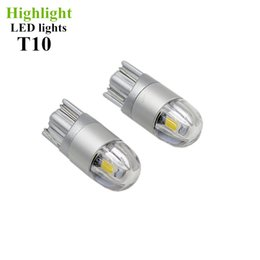 Wholesale Car Led Side Lights - Car Styling W5W Canbus Car Lights LED T10 3030 2SMD 12V Auto Lamps Upgraded Super Bright Yellow Red Blue White Clearance Bulbs