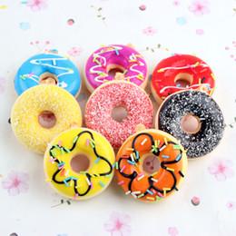 Wholesale 12 Unids Nuevos Juguetes de Los Niños Colorido Donut Squishy Donuts Pan Correa Decoración Juguete Regalos Al Por Mayor Squishies Envío Gratis Ps