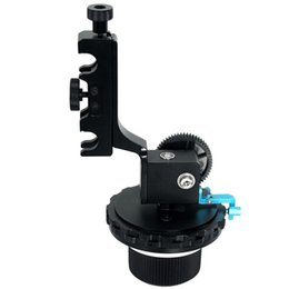 Wholesale Dslr Movie Camera - DSLR Quick Release Follow Focus FF F4 With A B Hard Stops Movie kit For Camera Camcoder 5D II 5D III Adjustable Locking System