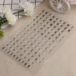Wholesale Stamping Alphabet - Wholesale- New 1 pc Alphabets Number Transparent Clear Silicone Stamps DIY Scrapbooking Card Making Scrapbooking DIY Tool
