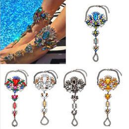 Wholesale Legging Sexy Hot - 2017 hot Ankle Bracelet Wedding Barefoot Sandals Anklets Beach Foot Jewelry Sexy Leg Chain Female Anklet