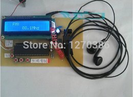 Wholesale Free Electronic Module - Wholesale-Free Shipping!!! FM TEA5767 radio 51 microcontroller design Manual   Auto Tuning Storage Module Electronic Kit