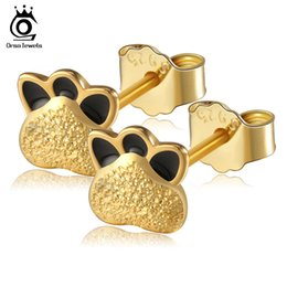 boucles d'oreilles couleur ours Promotion Boucle d'oreille en argent sterling 925 massif avec des boucles d'oreille véritables en or pour les femmes, jamais se faner SE14