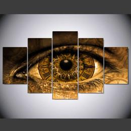 2019 pinturas de phoenix New Modern Steampunk Art Pintura Abstrata Do Olho Para Sala de estar 5 Painel sem moldura Da Arte Da Lona Pinturas de Impressão presente Personalizado