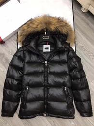 Wholesale Fur Collared Jackets Men - M364 hot sale men anorak winter jacket uk popular Winter Jacketreal fur Warm Plus Size Man Down and parka anorak jacket