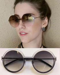 Wholesale Case Da - Womens 29S Round Sunglasses Rutheniu Full Frame grey len Occhiale da sole Sunglasses New With original case