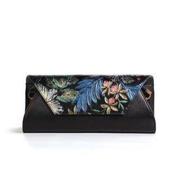 Wholesale Hot Paintings Women - Free Shipping!2017 Hot Sell Newest Classic Fashion Style chinese style Lady Genuine Leather top handle bag hand-painting gift bag #1035