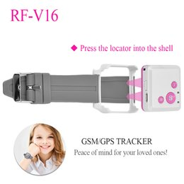 Wholesale Gps Lifetime - RF-V16 Mini GSM GPRS GPS Tracker SOS Communicator for Kids Child Elderly Personal lifetime web APP Tracking Two-way Talk