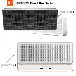 Wholesale Apple Pencils - Wholesale- In Stock Original Mi Bluetooth Speaker Pencil Box Series Square Stereo Portable High Definition Bluetooth 10h Play Music