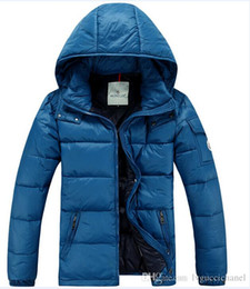 Wholesale Warm Dress Coats - Fashion Men Casual Down Jacket Coats Mens Outdoor Fur Collar Warm Feather dress Winter Coat outwear outer wear JACKETS AAA777