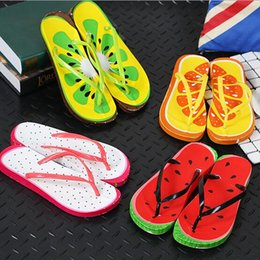 Wholesale White Shoes Jelly - Watermelon orange fashion Fruit slippers Beach FLIP FLOPS SANDALS SLIPPERS jelly SHOES women Foam watermelon flip-flops Home casual slippers