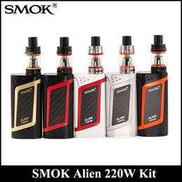 Wholesale Wholesale Aliens - SMOK Alien Kit With 220W Alien 220 Mod Firmware Upgradeable 3ml TFV8 Baby Tank Top Refill System DHL