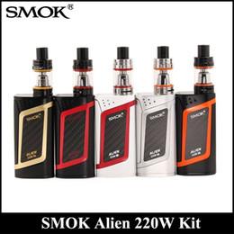 Wholesale Alien Top - SMOK Alien Kit With 220W Alien 220 Mod Firmware Upgradeable 3ml TFV8 Baby Tank Top Refill System DHL
