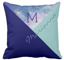 """Wholesale Exclusive Cases - Throw Pillow Case, Original & exclusive monogrammed blue Square Sofa and Car Cushions Cover, """"16inch 18inch 20inch"""", Pack of X"""