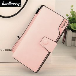 Wholesale Photo Ms - Wholesale- new style Multicolor Ms. wax leather wallet female long paragraph leather wallets Purse for women free shipping 13848-3