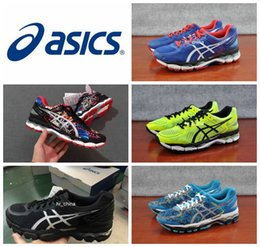 Wholesale Ups Nyc - 2017 New Asics Gel-Kayano 22 Running Shoes For Men Wholesale Top Quality Lite-Show NYC T5M2M Cushion Boots Athletic Sport Sneakers 40.5-45