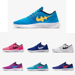 Wholesale 2017 New Arrival High Quality Free Running Shoes Lake Blue Women Sport Shoes Men Sneakers Low Ankle Sports Shoes Size