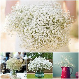Wholesale Artificial Flowers Gypsophila - Simation of Gypsophila silk baby breath Artificial Fake Silk Flowers Plant for Home Wedding Party Decoration 500pcs lot Free Shipping
