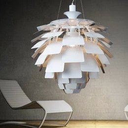 Wholesale Louis Poulsen Ph - 50CM Louis Poulsen PH Artichoke Lamp designe Denmark Modern Suspension Pendant Light Chandelier Living room lamp