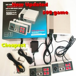 Wholesale Update Package - Updated TV Handheld Game Console Familycomputer Entertainment System Built-in 500 Classic Games For Nes Games PAL&NTSC with retail package
