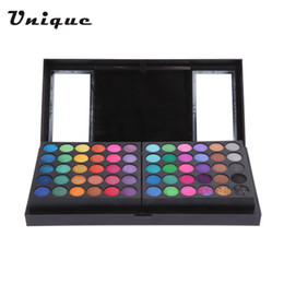 Wholesale Eyeshadow Blush Lip Gloss - Wholesale- Professional 156 Color Eyeshadow Lip Gloss Blush Foundation Makeup Palette Cosmetics with Mirror