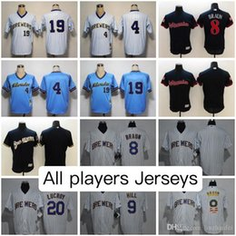 Wholesale Lucky Jersey - Milwaukee Brewers All Colors Jerseys Eric Thames Ryan Braun Lucky Yount Molitor Lewis Brinson Keon Broxton Ryan Cordell AND MORE Jersey