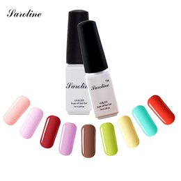 Wholesale Cheap Lacquer - Wholesale-Saroline Esmalte Permanent lucky Colors cheap Gel Nail Polish Set Gel Lacquers Varnishes One Step UV LED Nail Gel 3 in 1