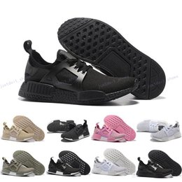 Wholesale Cool Skateboarding Shoes - High Quality Triple Black Pink NMD Runner PK XR1 Olive Boost Men Women Sports Running Shoes Cool Trainer Sneakers With Box Size US5--11.5