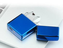 Wholesale Green Electronic Usb Lighter - Rechargeable wind creative electronic cigarette lighter USB lighter