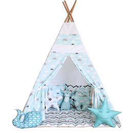 Wholesale Inflatable Cartoon Toys - Wholesale- Free Love @blue cloud kids play tent indian teepee children playhouse children play room teepee