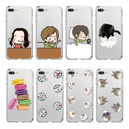 Wholesale Doll Silicone Case - Phone Case Cartoon doll small head TPU Soft Case For Iphone X 8 8PLUS 7 7PLUS 6 Samsung S8 S8PLUS S7EDGE