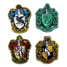 "Wholesale Iron Harry Potter Patch - VP-37 Harry Potter four colleges ""Gryffindor"" Embroidery military Pacthes badges double-sided affixed Army patch iron on patches"