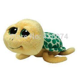 Wholesale Big Eyed Stuffed Animals - Wholesale- Ty Beanie Boos Big Eyed Stuffed Animals Pokey Yellow Turtle Kids Plush Toys Children Gifts 15CM